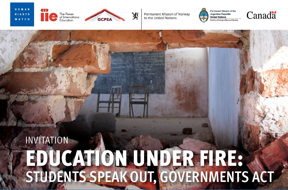 Image: Education Under Fire Invitation